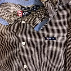Chaps Mens XL easy care long sleeve button down sh